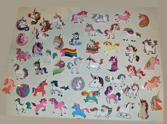 50 Pcs Colorful Cute Unicorn Stickers photo review