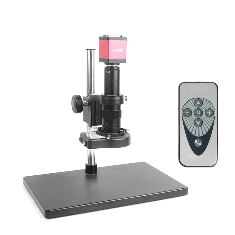HDMI Industry Video Microscope Set 14MP 1080P 60F/S Camera 180/300X Lens HDMI VGA Dual display output For Soldering PCB Repair hdmi vga output digital industry microscope 1080p video camera set 100x c mount lens 56 led ring light for phone pcb inspection