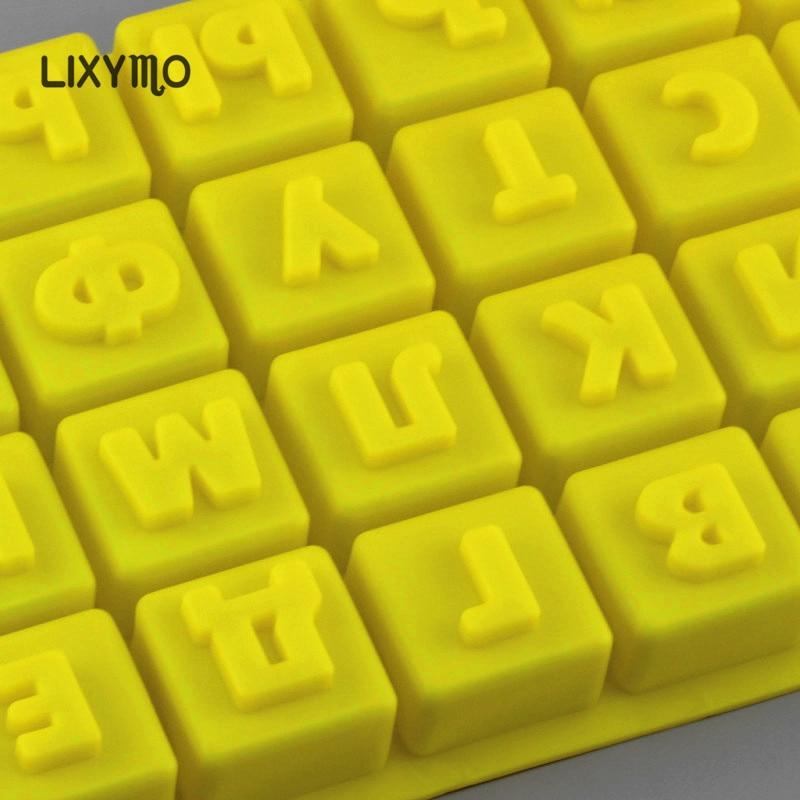 LIXYMO Rus alfabe çikolata kalıpları Rusya mektuplar silikon jöle - Mutfak, Yemek ve Bar - Fotoğraf 5