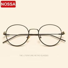 8bb2064d0b3 2018 new retro metal glasses frame Korean version of the trend glasses  frame round frame wreath silk flat mirror men and women.