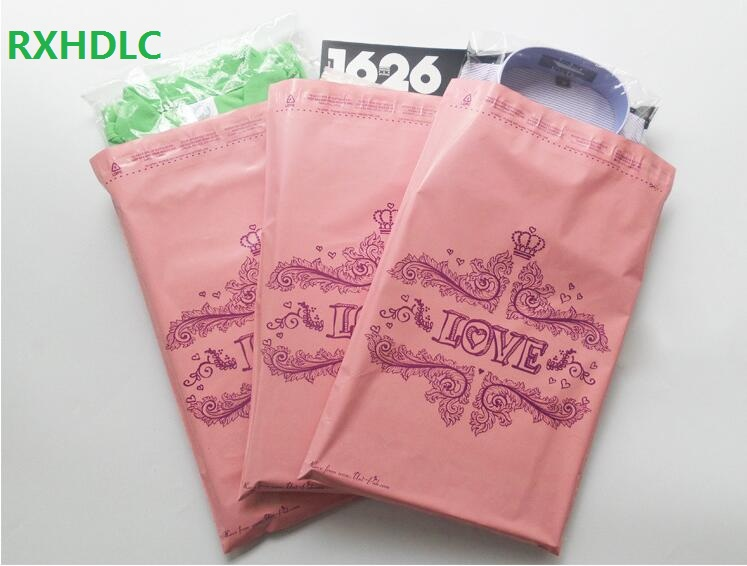 28x42cm Love Pink Crown poly plastic mailer bag packing Poly