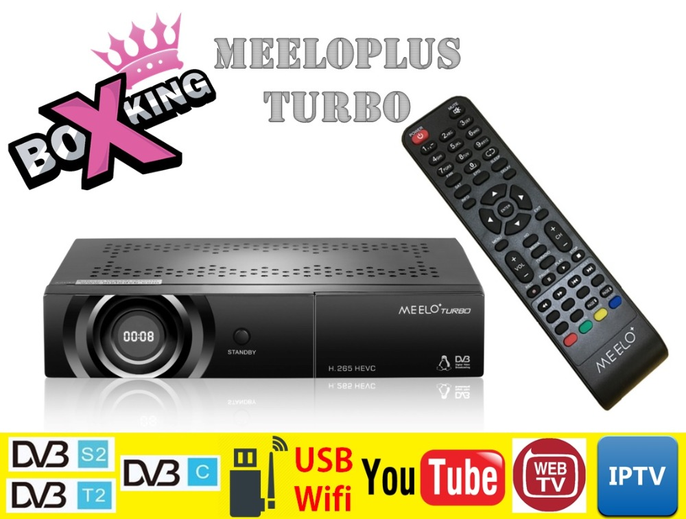 MEELOPLUS Meelo + Turbo DVB-S2/T2/C Linux Support Youtube IPTV WebTV 7 Segment-4 Digits Display Set Top TV Satellite Receiver meelo turbo dvb s2 c t2 linux iptv satellite receiver 7 segment 4 digits display processor 256mb flash 512mb ddr vs meelo one