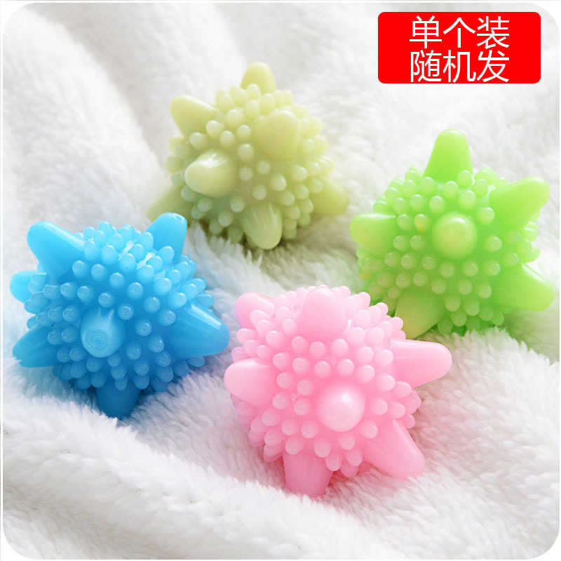 Creative home 396601 color solid clean silica gel laundry ball dry shirt brassiere cleaning ball stall wholesale