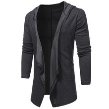 Mens Long Cardigan Sweater 2017 Fashion Sueter Hombre Men Jumper Sweaters Coats Casual Slim Fit Long Sleeve Sweater Pull Homme