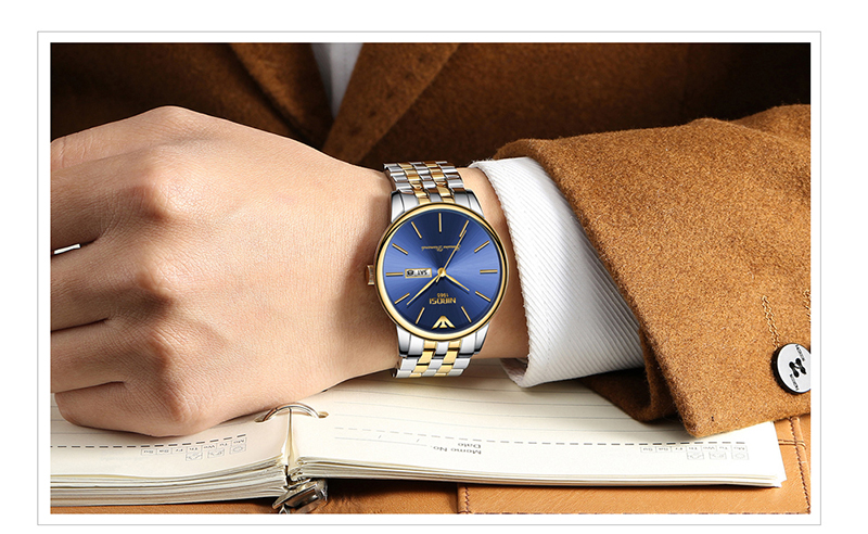 NIBOSI Relogio Masculino Mens Watches Top Brand Luxury Date Week Watch Men Waterproof Black Watch With Gold Montre Homme 2018    (19)