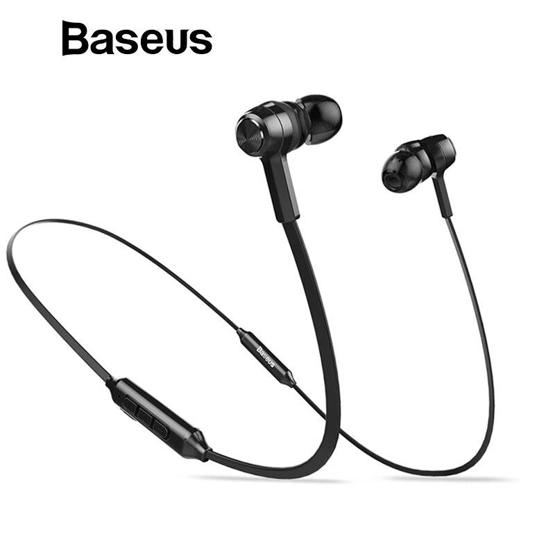 Baseus S06 auricular Bluetooth inalámbrico magnético banda para el cuello de auriculares manos libres estéreo de deporte auriculares para Samsung Xiaomi con micrófono