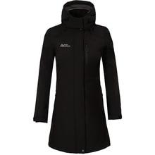 2018 Women Long Coat Hiking Jacket Softshell Fleece Jacket Windproof Breathable Hard-wearing Clothing Female Riding Climbing New