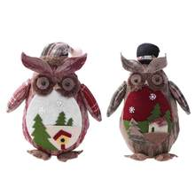 christmas cute cartoon animal xmas party doll desktop christmas tree ornaments pendant for home decoration holiday - Animated Christmas Dolls