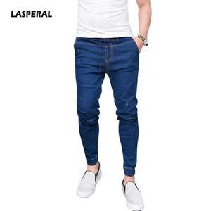 ecb50ac253 LASPERAL 2018 Casual Jeans Mens Fit Slim Trousers Male