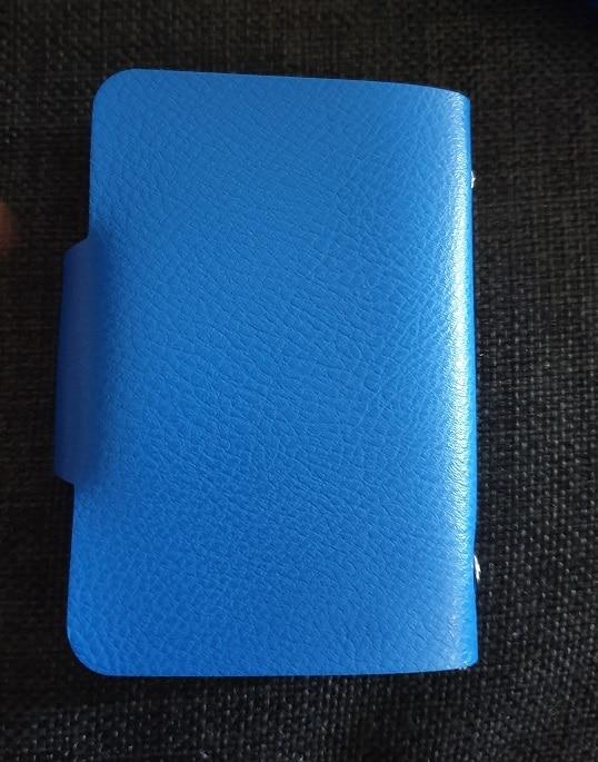Fashion PU Leather Function 24 Bits Card Case Business Card Holder Men Women Credit Passport Card Bag ID Passport Card Wallet