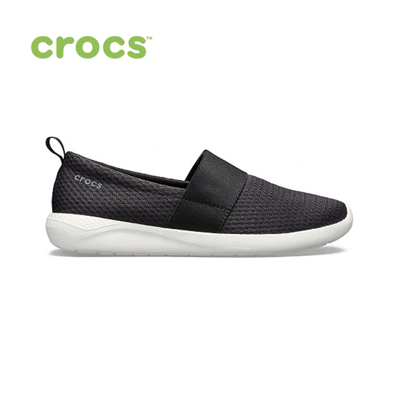 CROCS LiteRide Mesh Slip On W WOMEN for female, women TmallFS shoes 2018 new women shiny flats fashion rivets basic mixed colors pointy toe ballerina ballet flat slip on women shoes b103