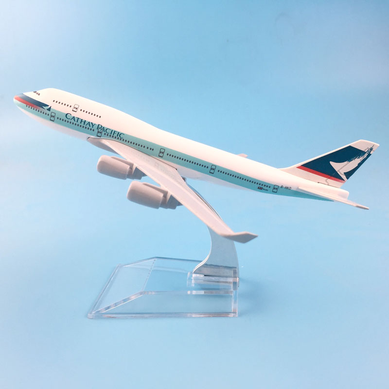 16CM AIRLINES  747 CATHAY PACIFIC AIRCRAFT MODEL MODEL PLANE SIMULATION 16 ALLOY CHRISTMAS TOYS GIFT KIDS