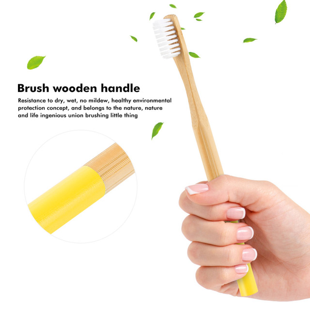 Natural Bamboo Toothbrush with Soft Bristles 20 Pcs Set