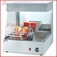 VF6 Commercial Electric Countertop Chip Warmer Display Showcase