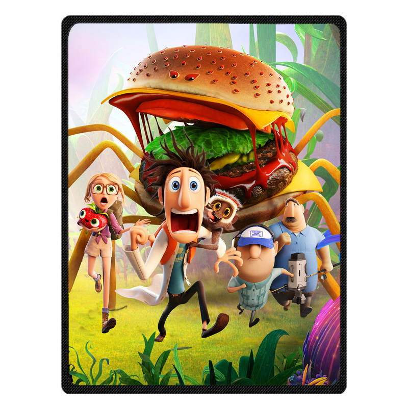 Comfortable Cloudy with a Chance of Meatballs Personalized Blanket Sofa Bed Throw Blanket Kid Adult Warm Blanket Children Quilt
