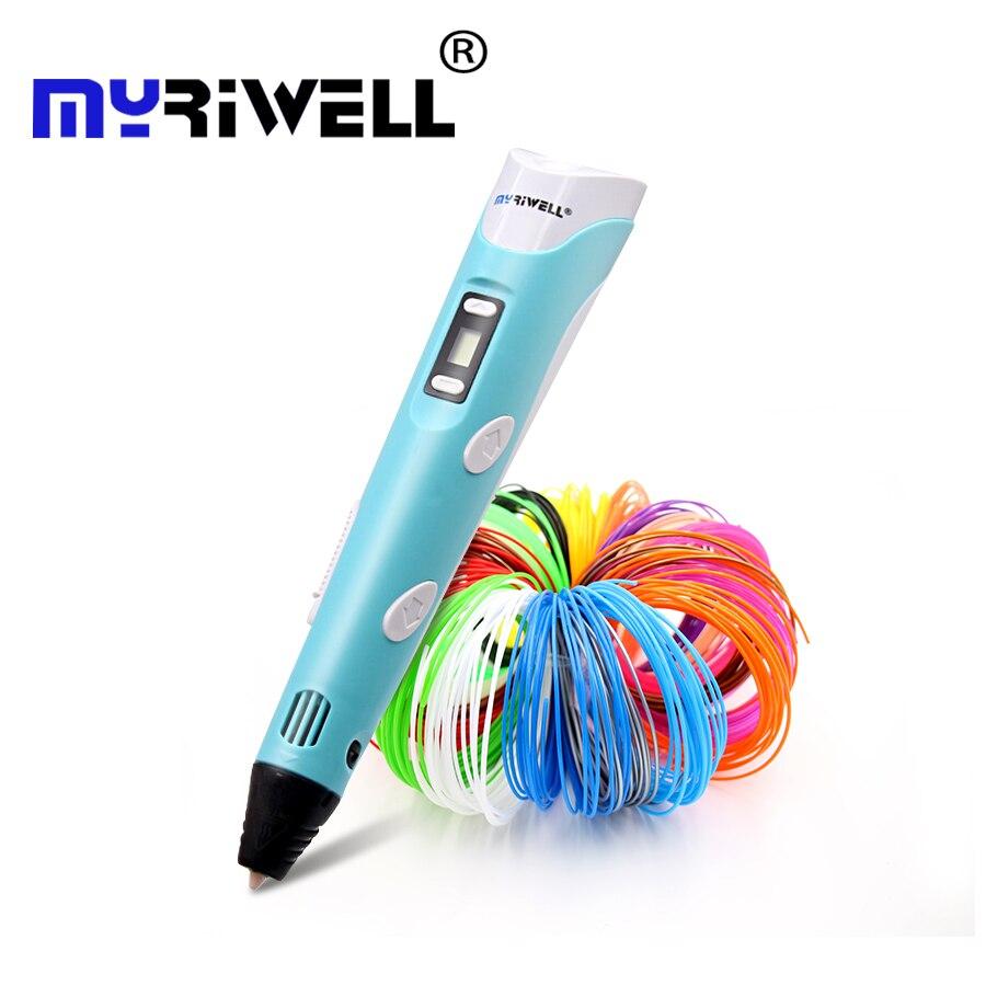 Myriwell 2nd 3d penna regalo Di Natale 3D Disegno A Penna Con 3 di Colore totale 9 m Filamenti Per I Bambini di Stampa di Disegno best penne per bambini
