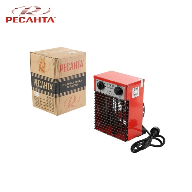 Electric heat gun TEP-3000H Hotplate Facility heater Area heater Space heater electric heat gun resanta tep 2000n compact