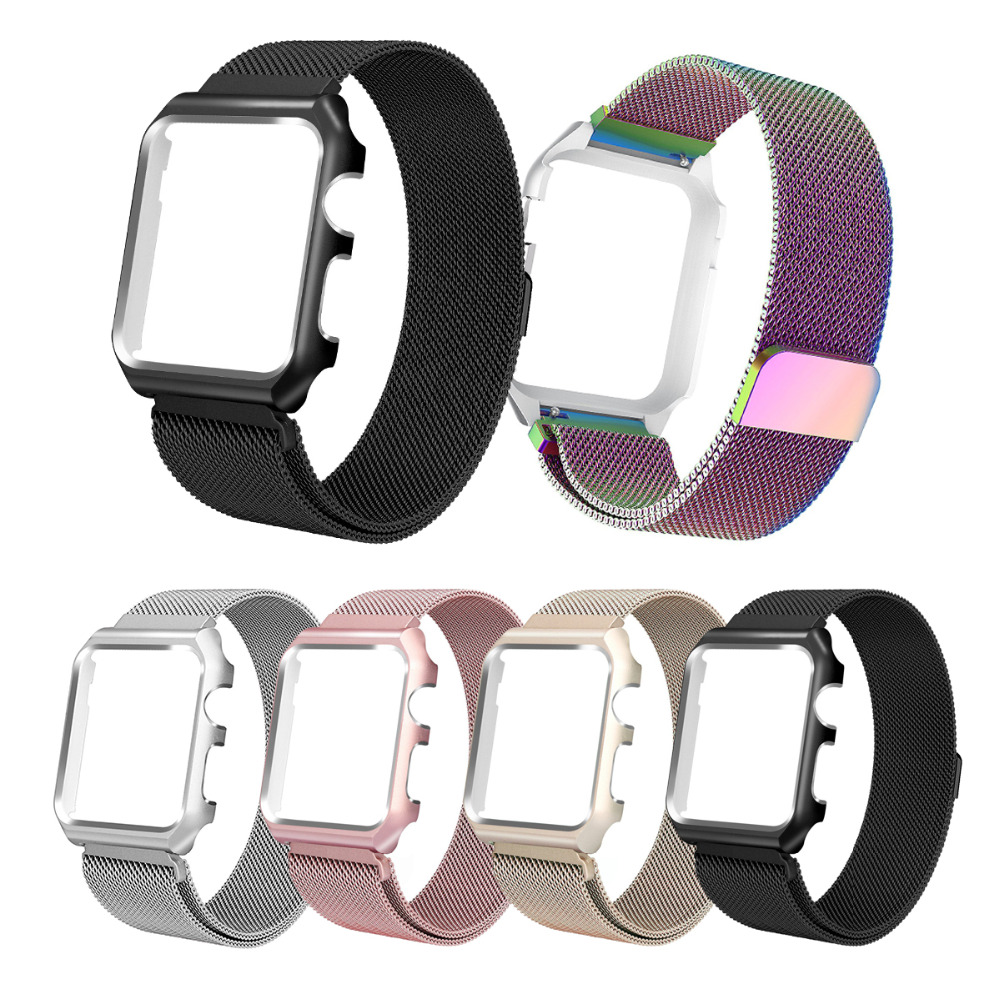 2018 joyozy For Apple watch band strap series 3/2/1 iwatch band 42mm 38mm Stainless Steel metal Bracelet wrist belt watchband sport silicone band strap for apple watch nike 42mm 38mm bracelet wrist band watch watchband for iwatch apple strap series 3 2 1