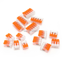 200PCS WAGO Suyep Lever Nut Assortment Pack Conductor Splicing Wire Connector 450 V 24 12 AWG