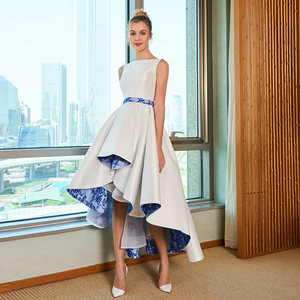 Image 2 - Dressv элегантное асимметричное свадебное платье размера плюс с круглым вырезом на молнии и шнуровкой длиной до пола свадебное платье для свадьбы