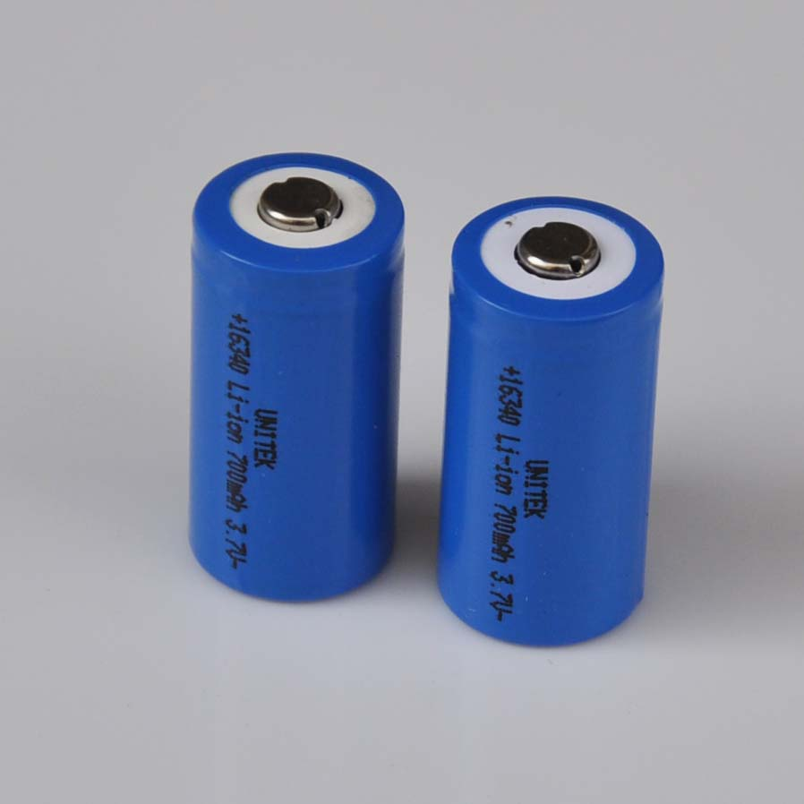 2-5PCS 3.7V 16340 rechargeable lithium ion battery 700mah li-ion cell <font><b>17335</b></font> CR123A CR 123A for laser flashlight LED torch image