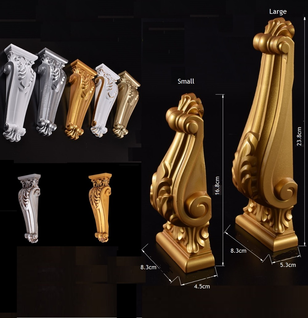European Plastic Corbel Corbels Architectural Furniture Decoration Gold Silver Antique Hand Painting