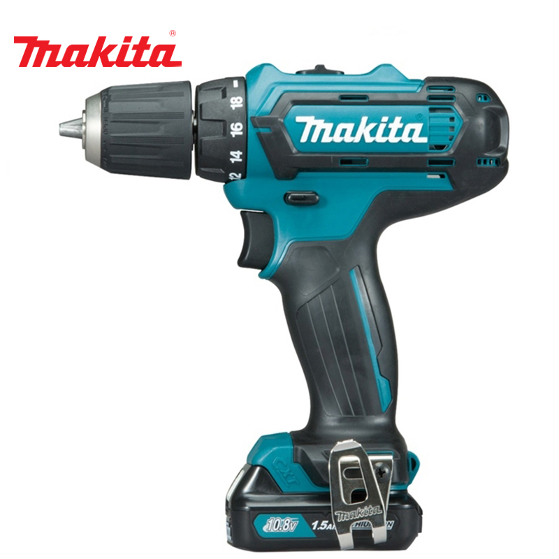 Cordless drill battery Makita DF331DWYE lithium battery socket wrench hand drill chuck bit hammer installation power tools cordless electric wrench impact