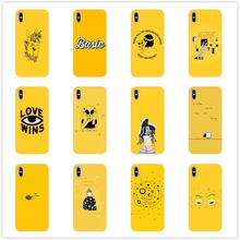 Yellow Aesthetic Art Pretty lovely classic phone case Cover Soft TPU for iPhone 5 11 11PRO MAX SE 6 6s11  XR