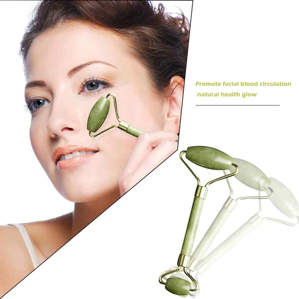 Dubbele Hoofd Facial Massage Roller Jade Gezicht Afslanken Body Hoofd Hals Apparaat Derma Roller Huidverzorging Ice Roller Rimpel Verwijderen