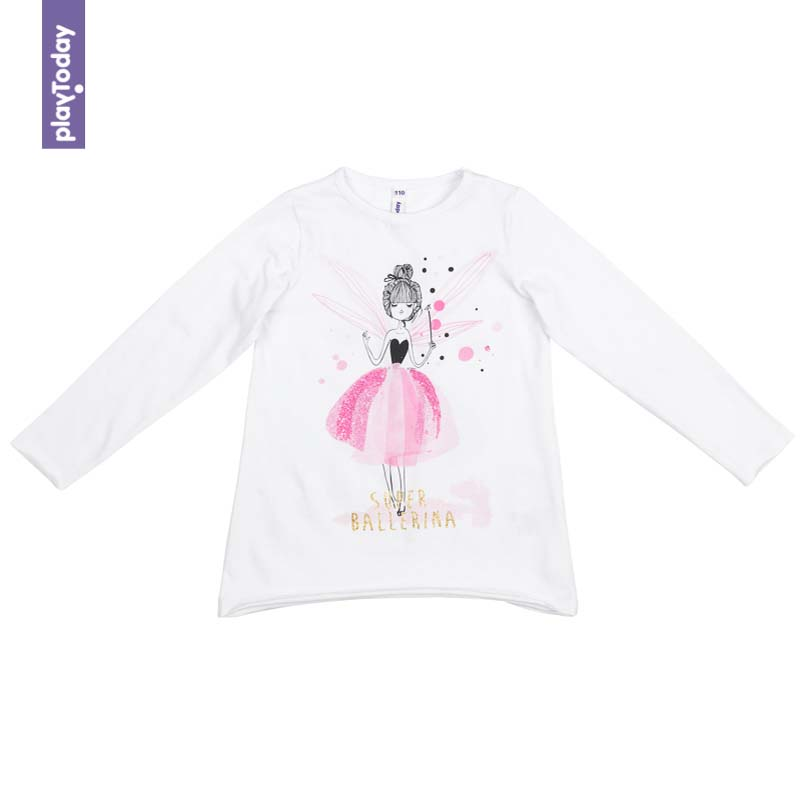 T-Shirts PLAYTODAY for girls 372029 Children clothes kids clothes kids outfits letter pattern t shirts in white