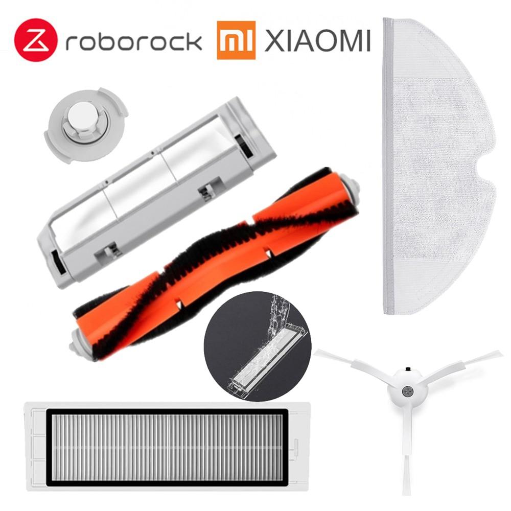 Xiaomi Roborock Roboter S50 S51 Reiniger Ersatzteile Kits Mop Tücher Trocken Nass Wischen Wasser tank filter Seite Pinsel Roller pinsel