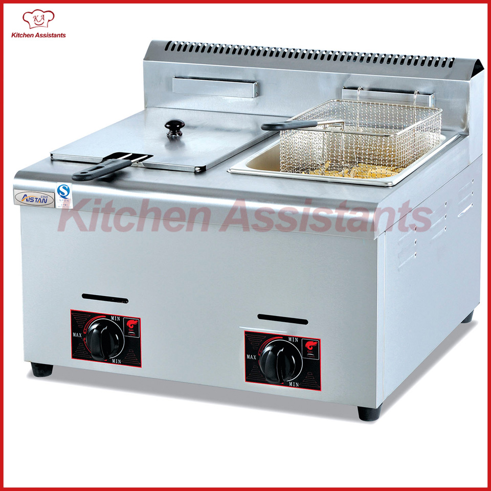 цена GF72 commercial counter top lpg gas deep potato large capacity fish fryer with basket