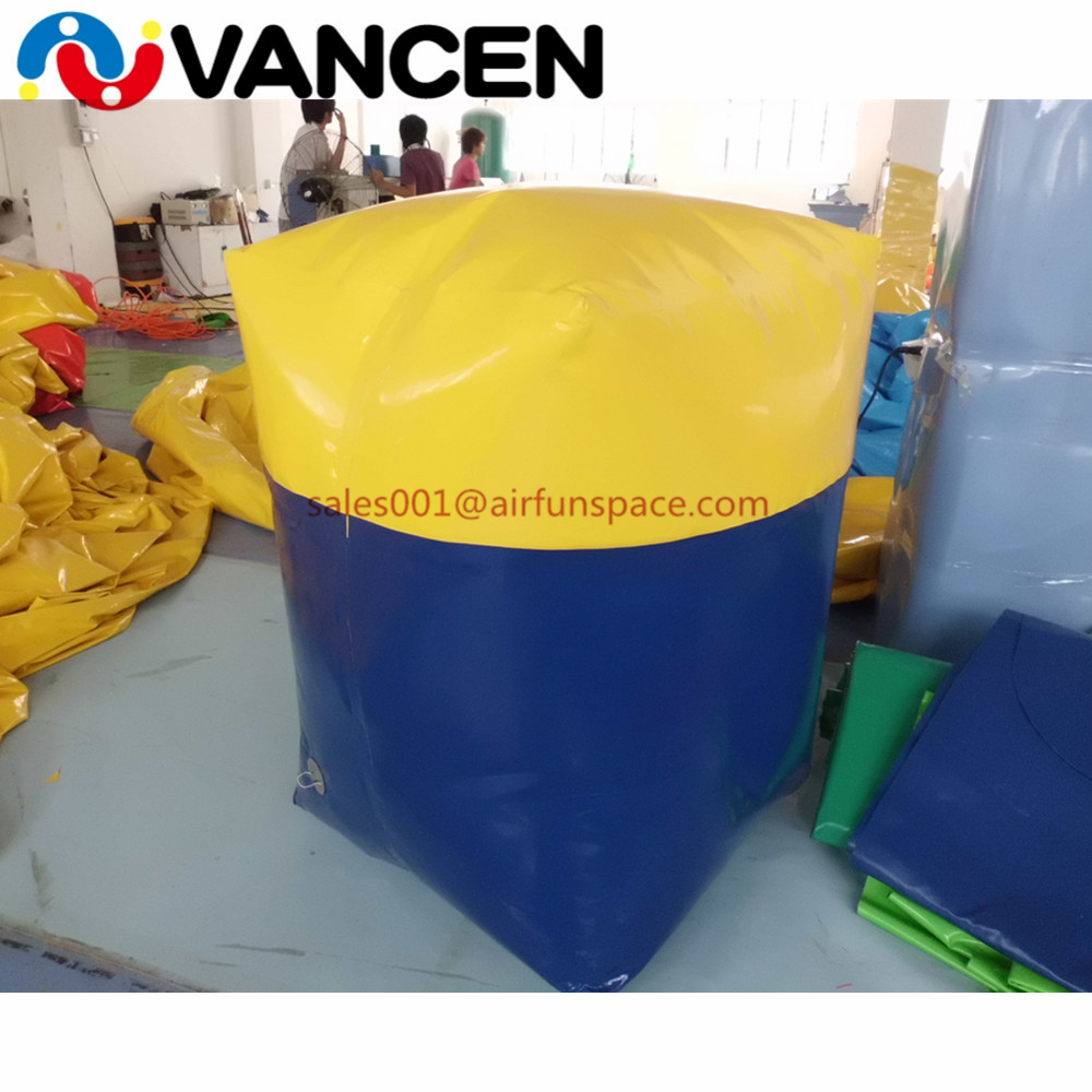 Wholesale pvc inflatable bunker for paintball air sealed outdoor inflatable paintball bunker for sport game цены