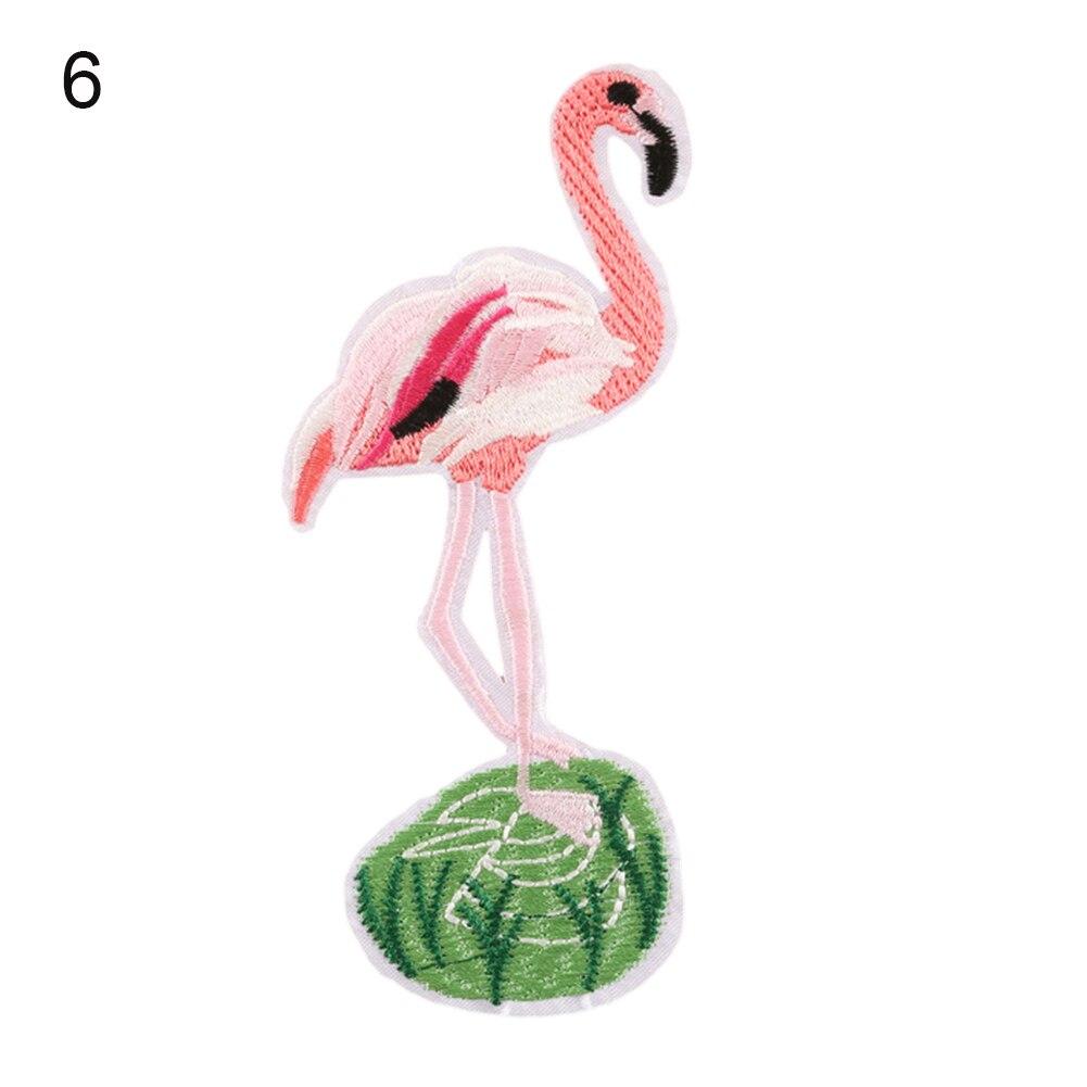 DIY Rosa Flamingo Aves Tropicales Coser Planchada En Insignia Parche ...