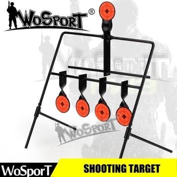 Al aire libre BB Gun Airsoft Paintball tiro con arco objetivo de tiro de Metal de acero placa de entrenamiento táctico reinicio objetivo