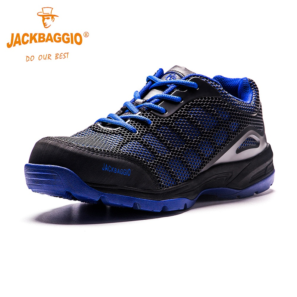 JACKBAGGIO 2018 New Military work Anti slip Safety shoes Breathable Reflective Casual Sneaker