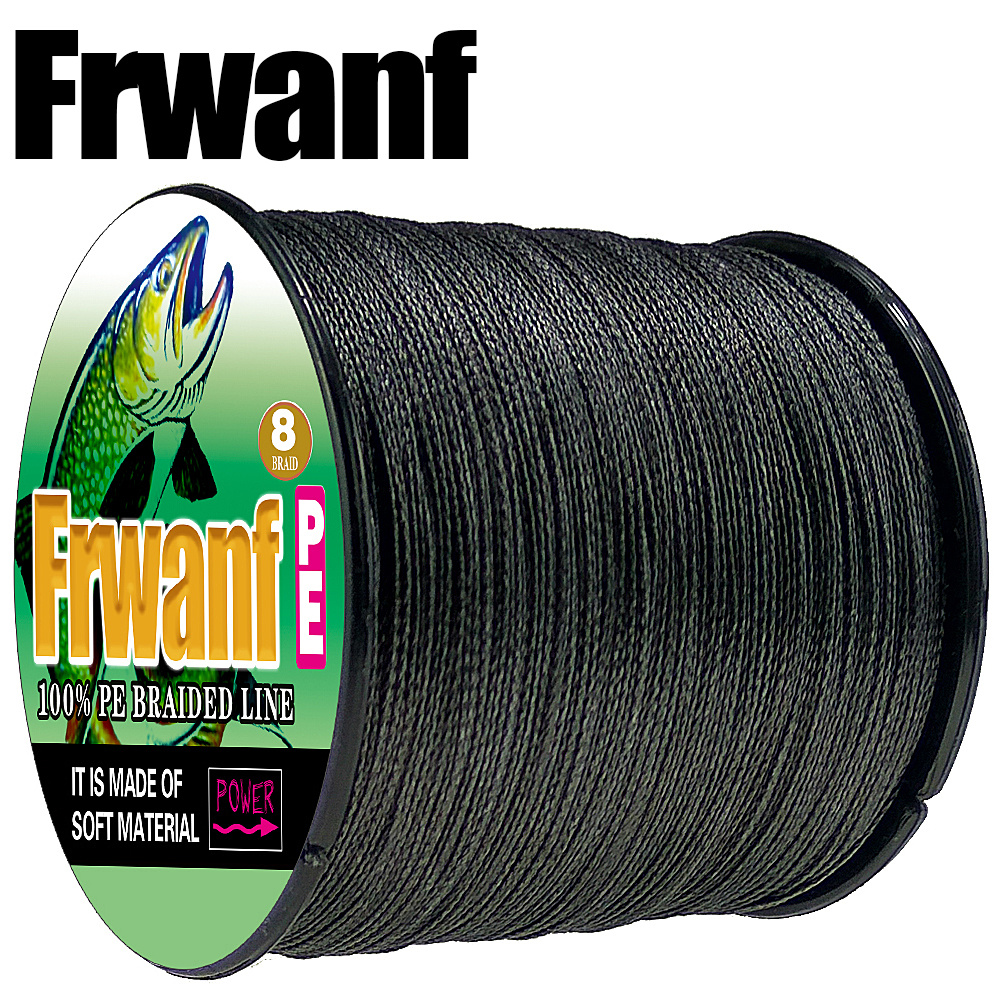 Frwanf PE 8 Strand Braided Fishing Line Super Strong Multifilament Line 8 Wire 500m for Carp Fishing Rope 10LB 20LB 130LB 300LB frwanf braided fishing line 16 strands 500m multifilament line braided wire 20 500lb hollowcore lines multicolor