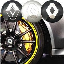 FDIK 4pcs 56.5mm For Renault logo aluminum car emblem Wheel Center Hub sticker Rim badge car-styling Accessories