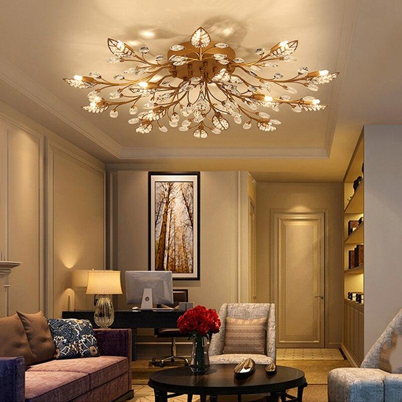 Luz de techo moderna para comedor lámpara de techo de cristal LED ...