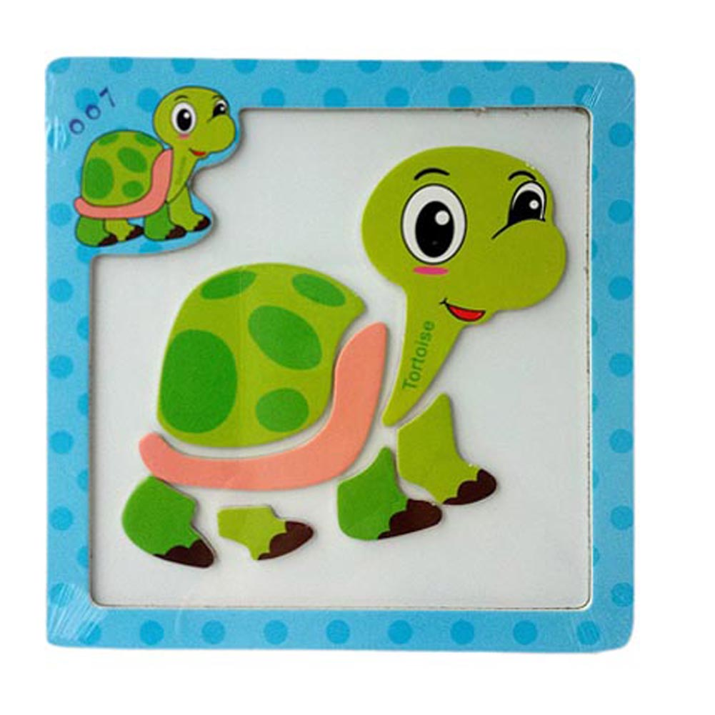 Color Random 3D Magnetic Wooden Puzzle Jigsaw Puzzle For Children Early Education Cartoon Animals Puzzles Table Kids Games