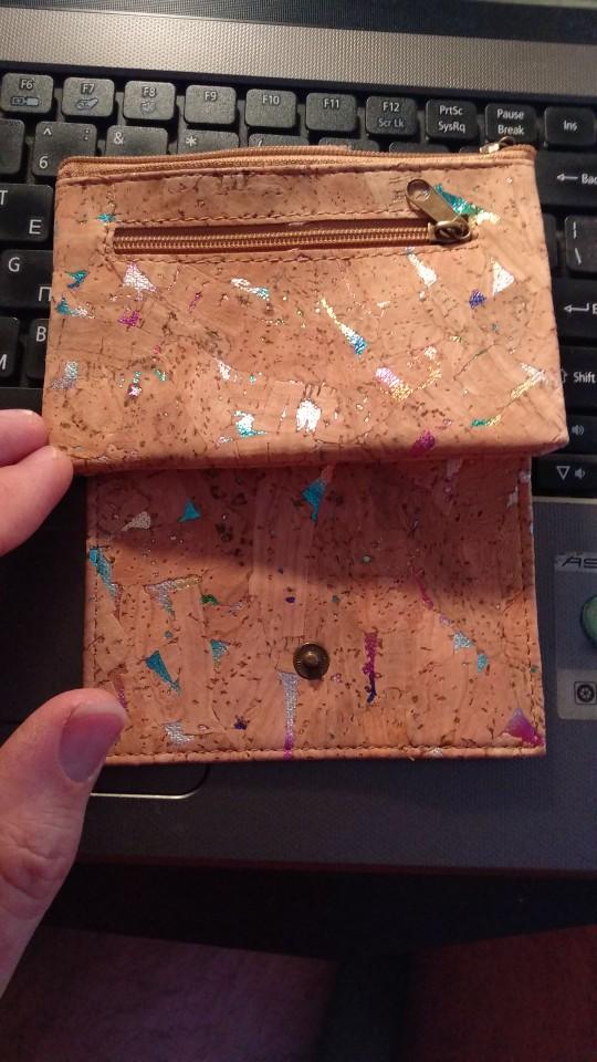 From Portugal natural cork Colorful cork small  women wallet BAG-379-D photo review