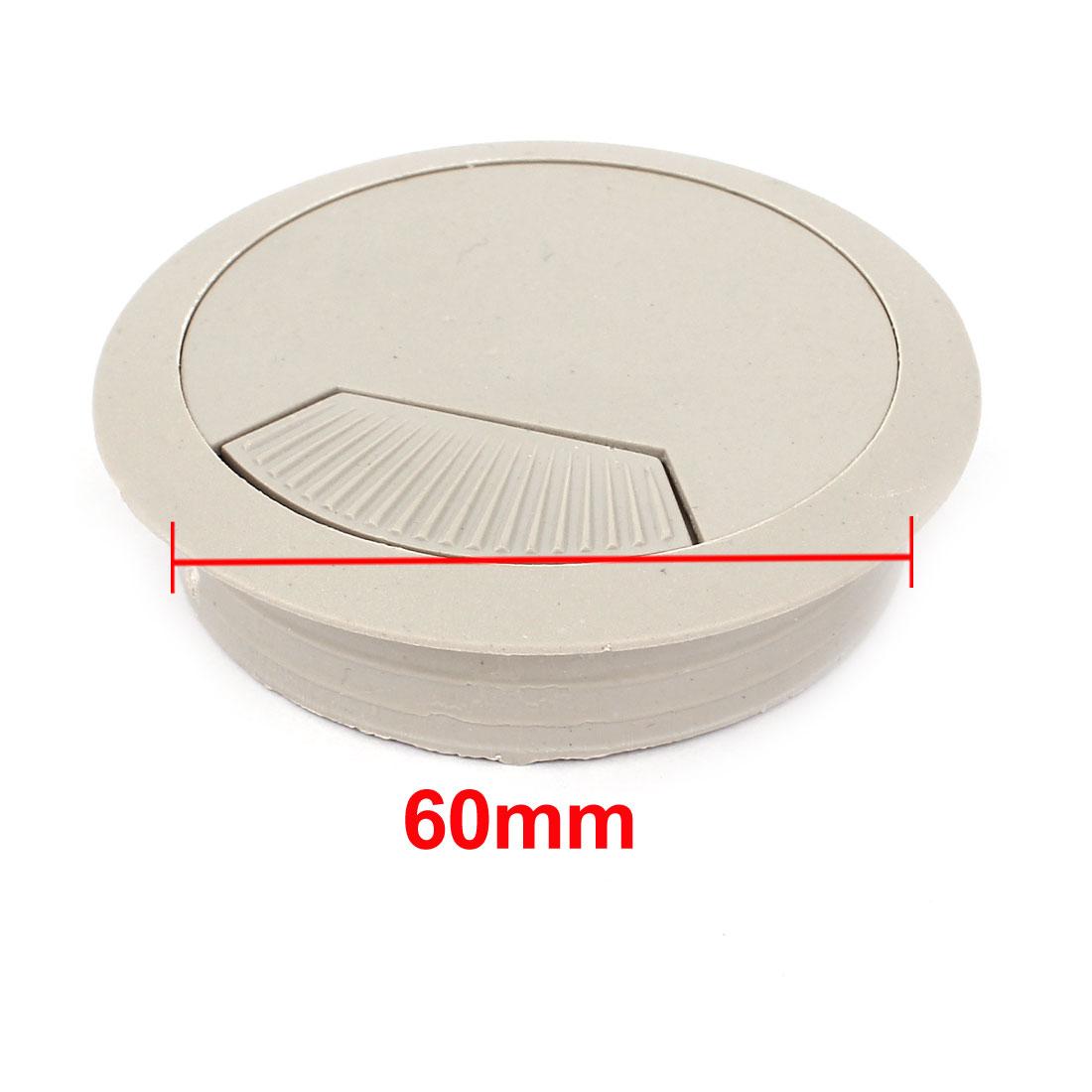 Computer Desk Plastic Grommet Wire Cord Cable Hole Cover Black 60mm Dia 100pcs