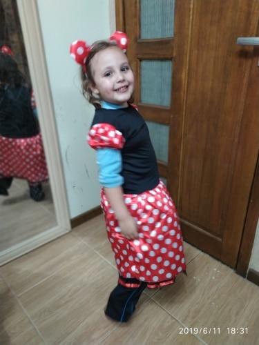 Hot Kids Gift Minnie Mouse Party Fancy Costume Cosplay Girls Ballet Tutu Dress+Ear Headband Girls Polka Dot Dress Clothes Bow