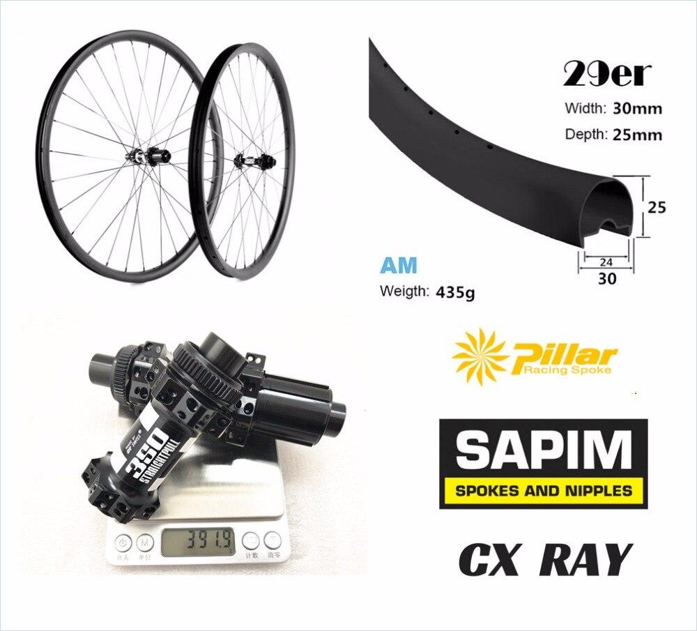 30*25 All mountain 650B roues 27.5er carbone tubeless ready hookless roues full carbon 29er vtt roue 30mm