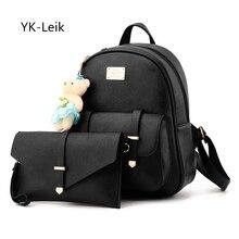 YK Вебе-leik Корейский все-матч модные женские рюкзаки 2 шт./компл. рюкзак + сумка на плечо. mochila feminina школьные сумки