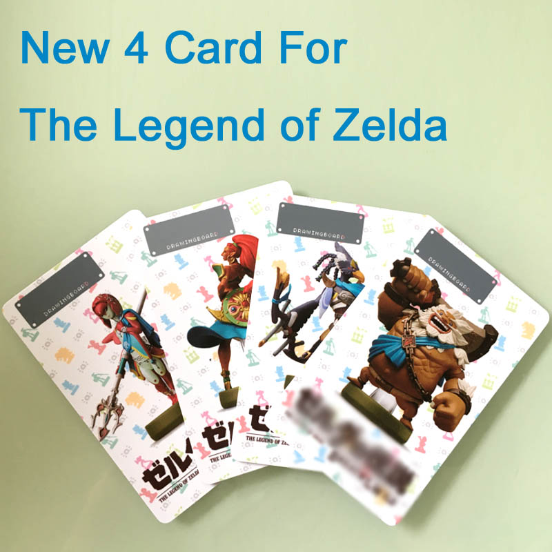 New 4 Cards for Zelda Legend NTAG215 Printing Card NFC Card/Kart 8 Deluxe/Fire Emblem/Splatoon2 /Odyssey 2008 donruss sports legends 114 hope solo women s soccer cards rookie card