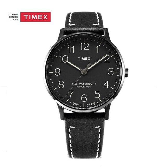 4b51e81a43ec Timex TW2P95900 Cuero Genuino Correa de Reloj de Pulsera de Cuarzo  Analógico Hombre Clásico Simple