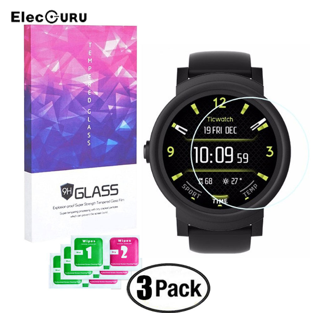 9H Tempered Glass For Ticwatch S & E Watch Full Cover Clear Screen Protector Anti Scratch Explosion-proof Screen Protective Film