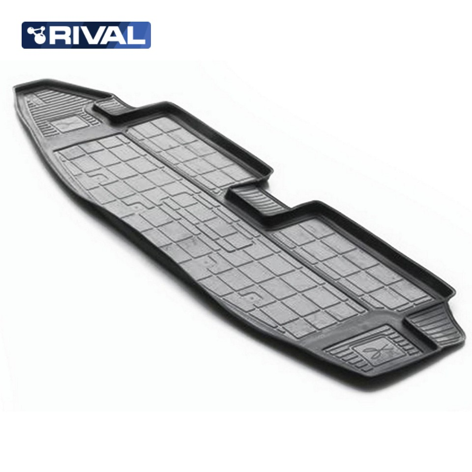 For Chevrolet Trailblazer 2012-2016 trunk mat for cars with 7-seats saloon Rival 11008003 for chevrolet niva 2009 2019 trunk mat rival 11004002