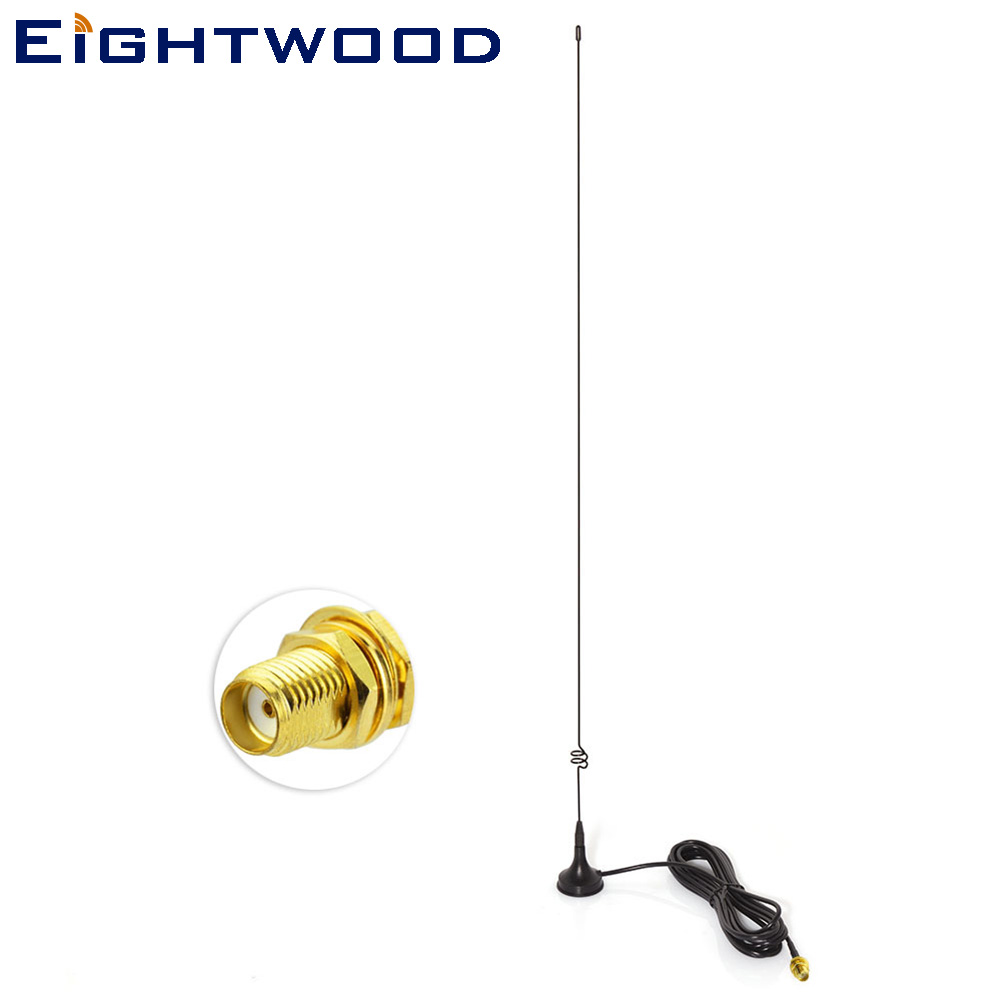 Eightwood Two Way Radio VHF UHF SMA Magnetic TV Antenna UT-108UV for Nagoya CB Radio Walkie Talkie UV-5R UV-B5 UV-B6 GT-3